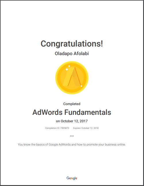 adwords fundamental