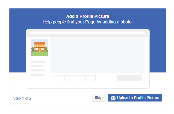 add a facebook profile picture and cover picture