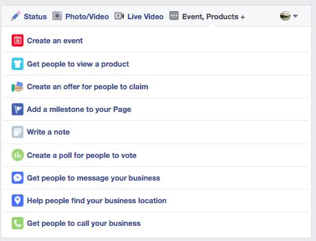 create a facebook post